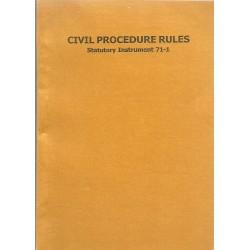 CIVIL PROCEDURE RULES