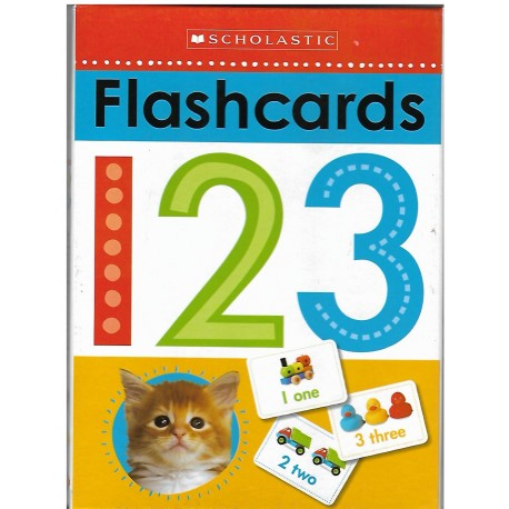 SCHOLASTIC FLASH CARDS 123