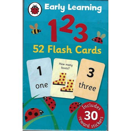 EARLY LEARNING 123 - 52 flash cards