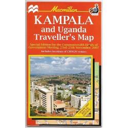 Kampala and Uganda Traveller's Map