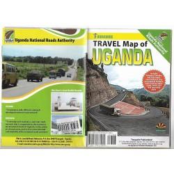 Tourguide travel map of Uganda